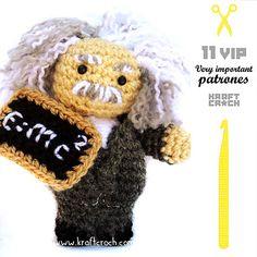 kraftcroch: 3/11 AMIGURUMI VIP: El científico relativo