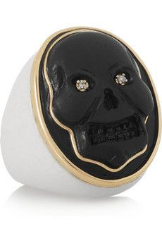 Amedeo Lava, agate and diamond skull...
