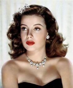 Gloria DeHaven, C. 1950s - the necklace is stunning!  Think Vintage Finds ladies!