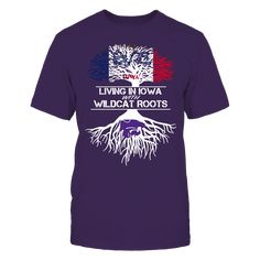 Kansas State Wildcats - Living Roots Iowa T-Shirt, TIP: If you buy 2 or more (hint: make a gift for someone or team up) you'll save quite a lot on shipping.  Click the GREEN BUTTON, select your size and style.  The Kansas State Wildcats Collection, OFFICIAL MERCHANDISE  Available Products:          Gildan Unisex T-Shirt - $24.95 Gildan Women's T-Shirt - $26.95 District Men's Premium T-Shirt - $27.95 District Women's Premium T-Shirt - $29.95 Next Level Women's Premium Racerback Tank - $29.95…