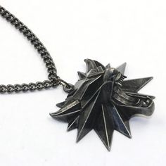 The Witcher 3 pendant necklace with 50cm chain wicca wizard wolf wild hunt 3 Figure Game witch men's necklace jewelry 5pcs/lot