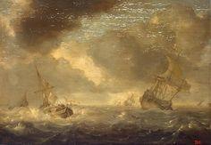 Porcellis, Jan Seascape Holland, Circa 1630 Author: Porcellis, Jan Name: Seascape Place: Holland Date: Circa 1630 Technique: oil on panel
