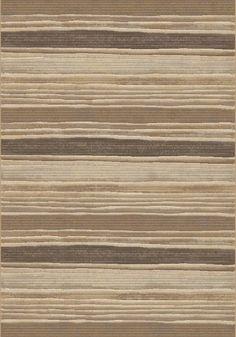 Eclipse Brown/Beige Stripe Area Rug