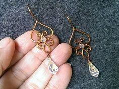 Copper wire earing - How to make wire jewelery 151 - YouTube #WireJewleryIdeas #howtomakejewelry