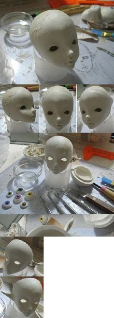 Quirky Artist Loft: How to Sculpt a BJD Doll Head