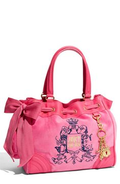 Juicy Couture Bling Daydreamer Velour Tote $198