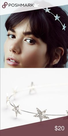 Free People Geo Star Headband Simple, silver, and star studded...literally. Free People Accessories Hair Accessories