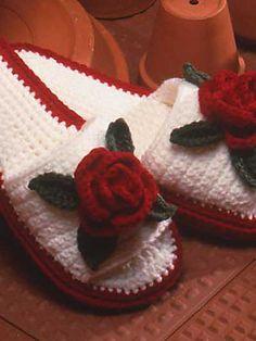 Ravelry: Rose Slipper pattern by Patricia Hall-Free Pattern