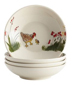 Paula Deen Southern Rooster Bowl - Set of Four   zulily