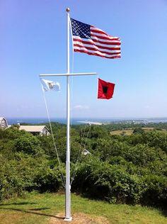 Nautical Flag Pole Design 874 Hillrise Ct Nautical