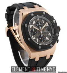 Audemars Piguet Royal Oak Offshore Rubber Clad 18k Rose Gold Black Dial 42mm 2012 Ref. 25940OK.OO.D0 Price On Request