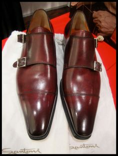 Santoni double monks for his casual days