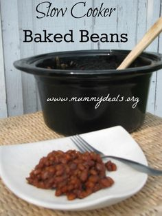 Slow Cooker Baked Beans are fun to the to a cookout and don't use space in the oven! #slowcooker #crockpot #recipes