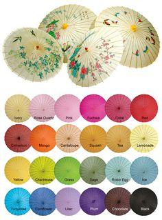 paper parasols for summer weddings from PearlRiver.com | via junebugweddings.com