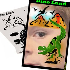What little boy wouldn't want a dinosaur face painting? So easy using ShowOffs stencils!