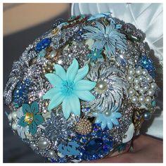 bridal bouquet beach wedding by Princess Wedding Co