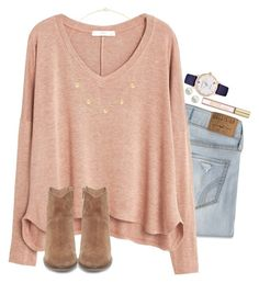"""""""Literally having the best weekend"""" by anna-watson00 ❤ liked on Polyvore featuring Hollister Co., MANGO, Tiffany & Co., Steve Madden, Kate Spade, Michael Kors and Majorica"""