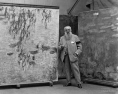 French Impressionist painter Claude Monet, 1923.