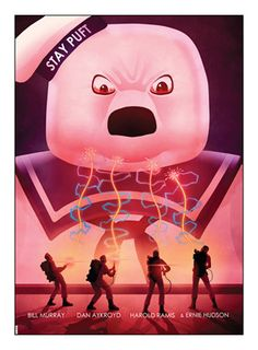 Ghostbusters Angry Stay Puft Movie Poster Art Print by Matt Ferguson (MSP Movies And Series, Movies And Tv Shows, Le Revenant, Ghostbusters Movie, Ghost Busters, Movie Poster Art, Art Posters, Vintage Posters, Alternative Movie Posters
