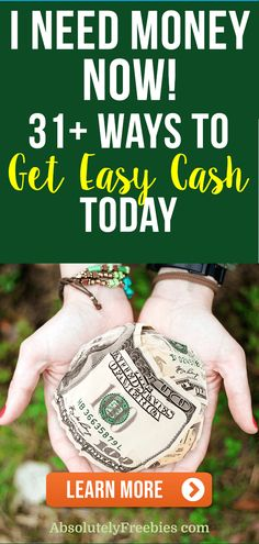 I need money now! Discover ways to make money extra money today. Find money making ideas and money tricks that will earn cash fast today. I Need Money Now, Make Money Today, Make Easy Money, Way To Make Money, Make Money Online, Make Cash Fast, Cash Today, Cash Now, Marketing Jobs