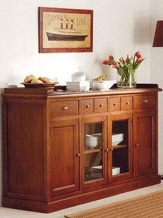 Dining Room Hutch, Dining Nook, Kitchen Furniture, Furniture Makeover, Furniture Decor, Sideboard Decor, Credenza, Crockery Cabinet, Muebles Living