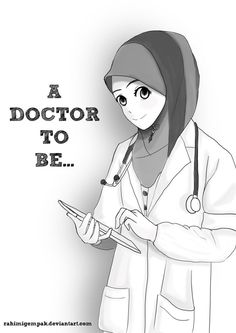 This art is a gift for my fan at my fb page : www.facebook.com/rahimigempakShe wanted to be a doctor. Besides, here a message for you~~ Whatever job you do. Stay modest and cover your aurat~~ That'...