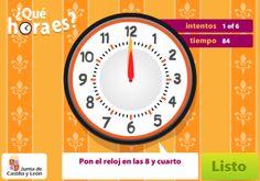 Actividades interactivas: medida de tiempo