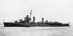 USN; USS Aaron Ward(DD-483),  a Gleave class Destroyer, built by the Federal Shipbuilding & Drydock Co at Kearney, New Jersey & was commissioned 04/03/42. Assigned to the Pacific  she was operating off  Guadalcanal on 13/11/42 she took an active part in the Battle of Guadalcanal taking 9 direct hits herself. after  quick repairs at Hawai she returned to the fleet on 06/02/43. 07/04/43 she was bombed & sunk off Guadalcanal by Japanese aircraft.