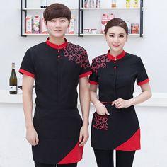 Hotel Uniform, Restaurant Uniforms, Staff Uniforms, Summer Work Outfits, Work Clothes, Clothes For Women, Work Shirts, Unisex, Female Clothing