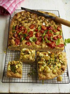 Focaccia bread, 3 ways from Jamie Oliver