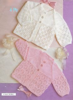 PDF Instant Digital Download baby 4 ply matinee jackets knitting pattern 16/18 inch (450) by PatternsFromDaisylin on Etsy