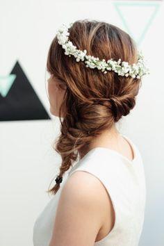 Un jolie couronne de fleur pour le mariage