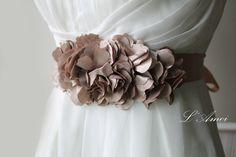 On Sale Champagne Wedding Sash Bridal Belt with Champagne от LAmei