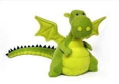 Patron Yoki le Gros Dragon - Patron de couture PDF de DIY Fluffies Plush Patterns & Fluffels Plush sur DaWanda.com