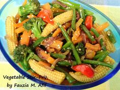 An excellent and delicious accompaniment or side to any meal, this dish is easy to prepare and is so pretty and colorful that it will tempt even the most fussy eater to give it a try.