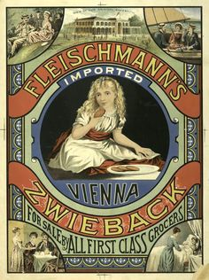 Free Victorian Clip Art - Advertising with Pretty Girl - The Graphics Fairy