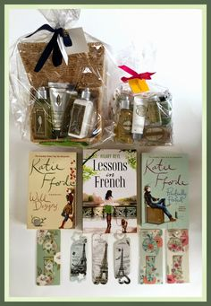 Suze likes, loves, finds and dreams: Giveaway: L'Occitane Verveine Basket and Almond Pouch, 3 Books and Bookmarks