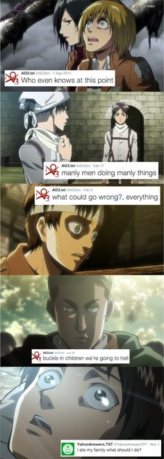 Attack on titan humor posts
