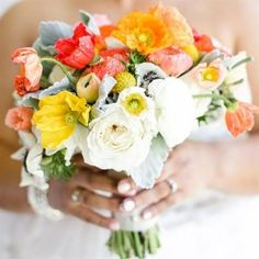 These poppies make this bouquet pop! modern
