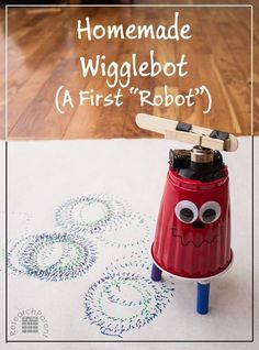 Homemade Wigglebot - A First Robot for Kids to make!! Mine will love this, via ResearchParent.com