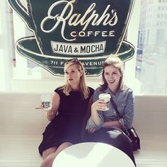 """ralphlauren: """"Coffee Break: Reese Witherspoon and stylist Leslie Fremar enjoying a cup of in the Ave. and St. Coffee Wine, Coffee Talk, Coffee Break, Coffee Cup, Life Is What Happens, Coffee With Friends, I Love Nyc, Coffee Drinkers, Reese Witherspoon"""