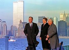 1 Different World - Presidents Bush and Reagan with Gorbachev at Lower Manhattan - 1988