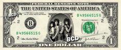 MOTLEY CRUE on REAL Dollar Bill Cash Money Memorabilia Collectible Celebrity