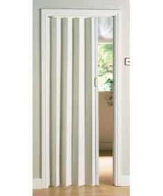 White #Plastic #Folding_Door - A folding door provides a unique way to separate two rooms.  Opening or closing the way between one space and another becomes quick and easy with this type of #door.