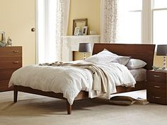 My Design Bed Frame (curved headboard & standard base): Queen Bed Frame in White, Charcoal, Blackbean, Latte, Ghost Gum, Natural  $1149 SNOOZE JINDALEE