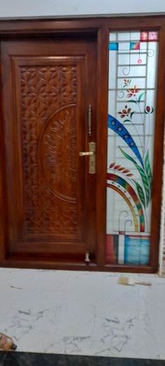 Wooden Door Design, Wooden Doors, Armoire, Glass, Furniture, Home Decor, Clothes Stand, Decoration Home, Closet