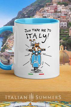#ItalyMammaMia #MioMyItaly #Italy #made_in_italy #italian_fashion #italian_bags #summer_style #Italiansummer #summer #beach #italian_mugs #italian_tees Italy Quotes, Italy Coffee, Italian Words, Pack And Ship, Italian Summer, Vacation Shirts, Cute Mugs, Hand Designs, Italian Fashion