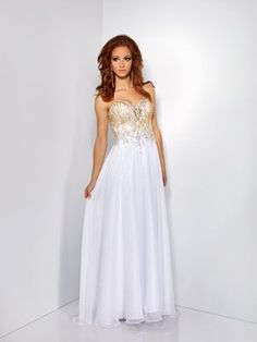 Image result for white and gold gown