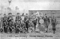 116th Field Artillery WInter, Haven Florida.