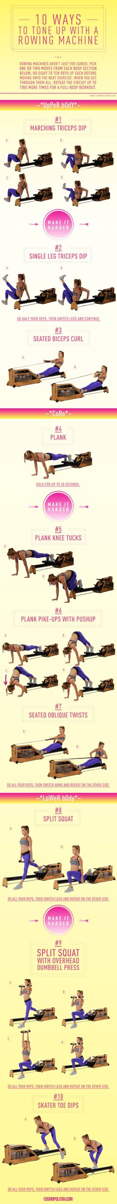 10 Bizarre but Effective Ways to Work Out With a Row Machine #fitness #workout